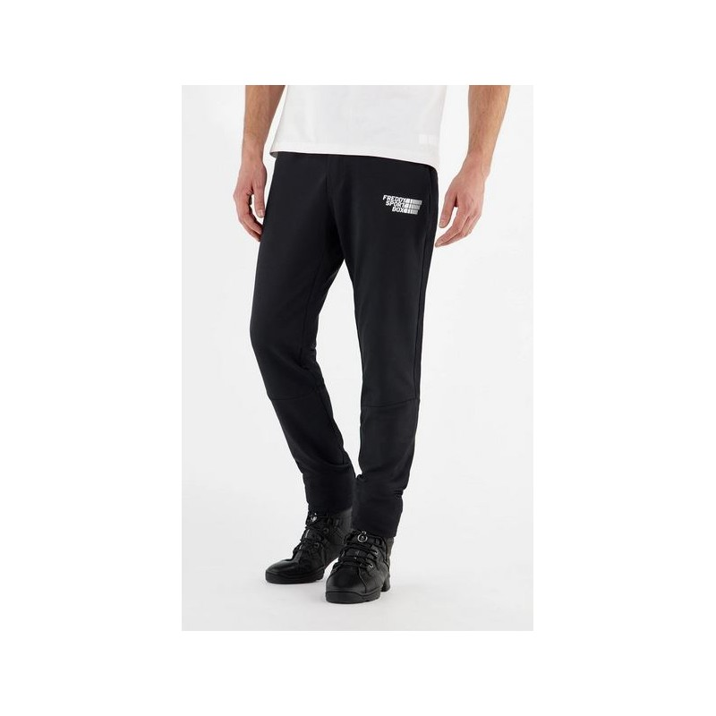 Pantaloni tapered elasticizzati con tasche zippate