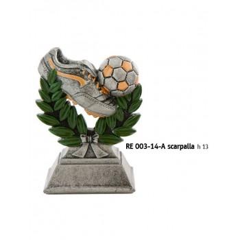 TROFEO IN RESINA CALCIO RE 003-14