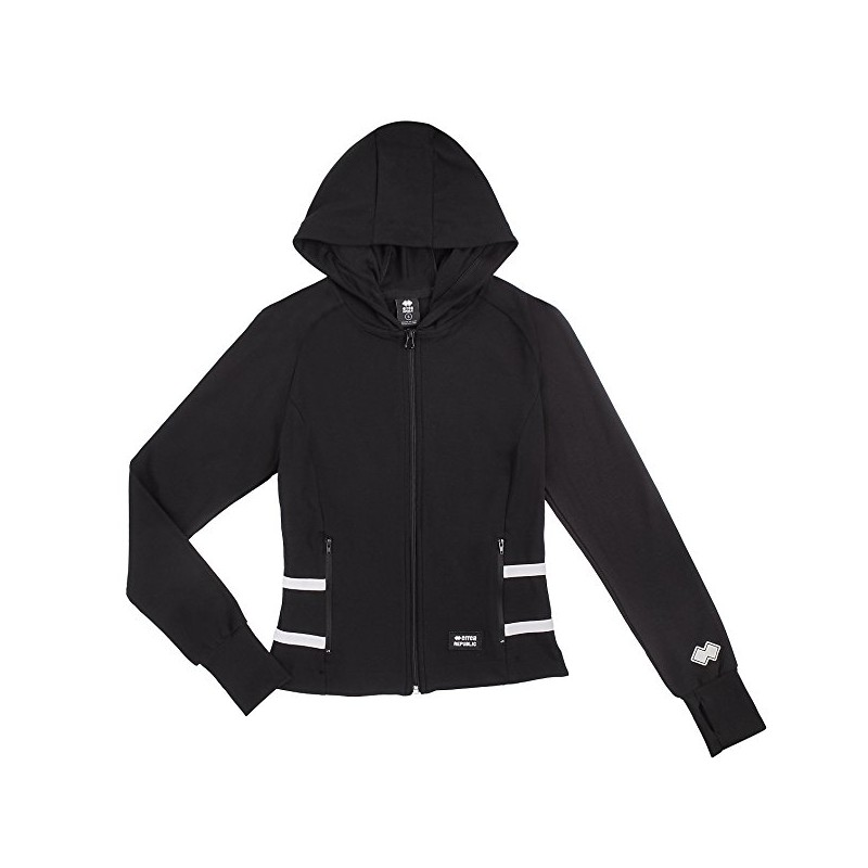 WOMAN HOODED SWEAT AD DARK NAVY
