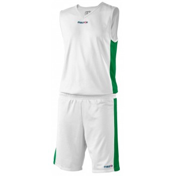 Completo Basket Arkansan Bianco Verde