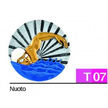 Disco Calcio Diam. 7 cm per Trofei