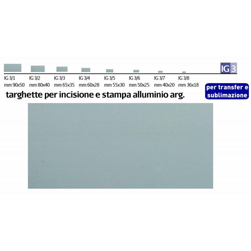 Targhette Alluminio Argento
